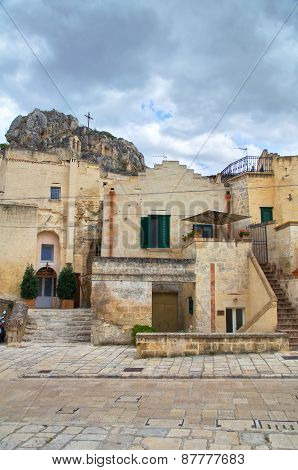 Alleyway. Sassi of Matera. Basilicata. Southern Italy.
