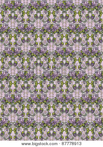 Fantasy roses pattern