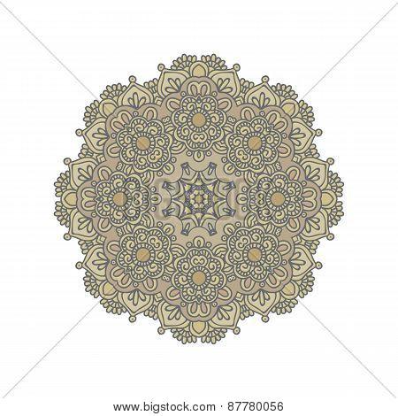 Mandala, East Ornament. Vector Illustration