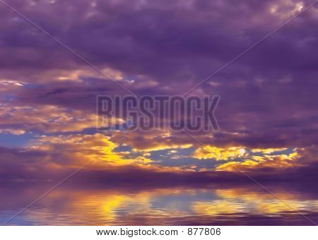 Purple and gold  Sky