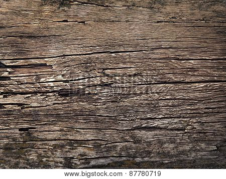 Texture Of Old Wood In The Style Of Grunge As Background