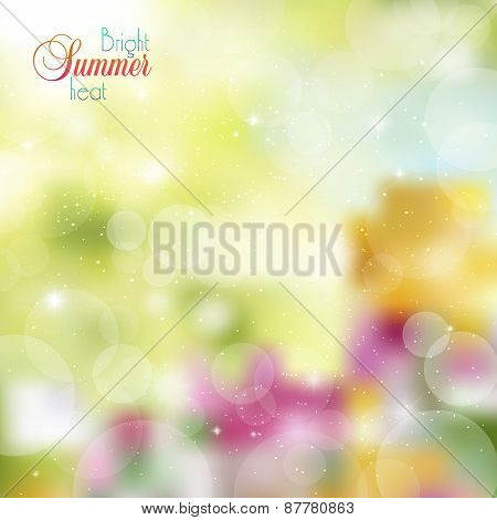 Abstract Bright Floral Background