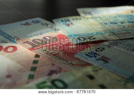 Some Old Banknotes Of Hong Kong Dollars