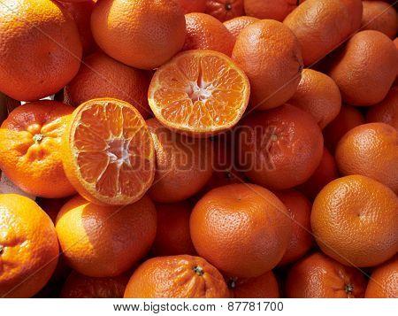 Ripe Mandarins Clemantins
