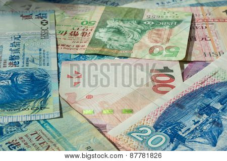 Background From Different Hong Kong Dollars