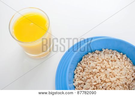 Cereal And Orange Juice