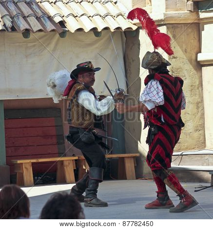 A Sword Fight At The Arizona Renaissance Festival