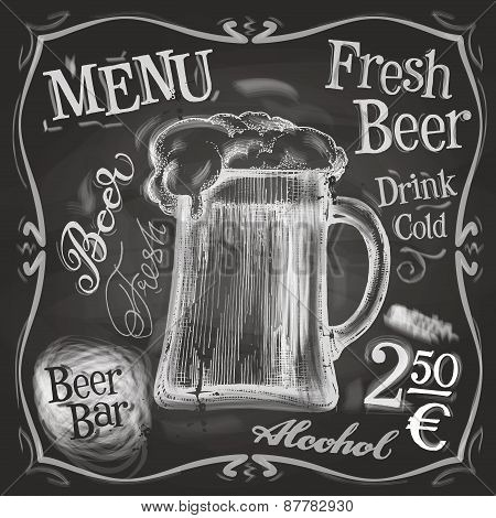 pub vector logo design template. beer mug or menu board icon.