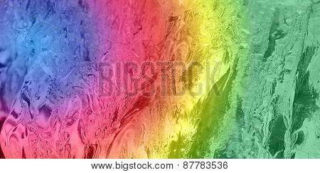 gradient rainbow on ice