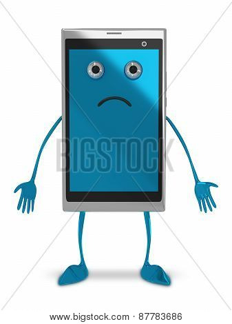 Smartphone Character Isolated