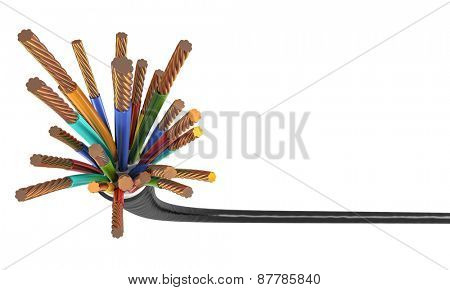3d illustration of classic power cable