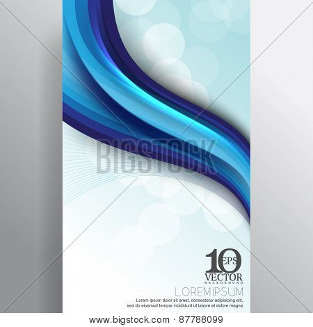 eps10 vector corporate business blue wave thick lines elements banner background