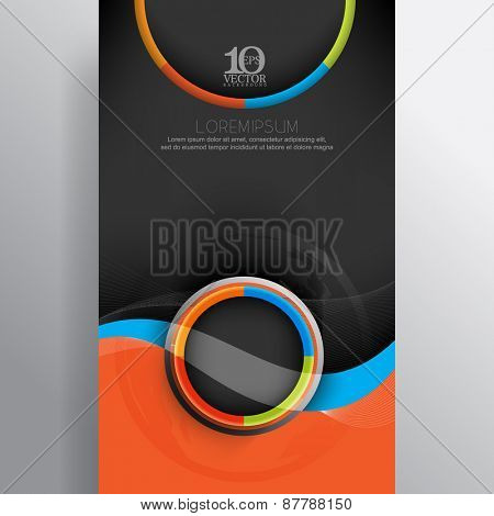 eps10 vector business template background multicolor round rings frame banner design