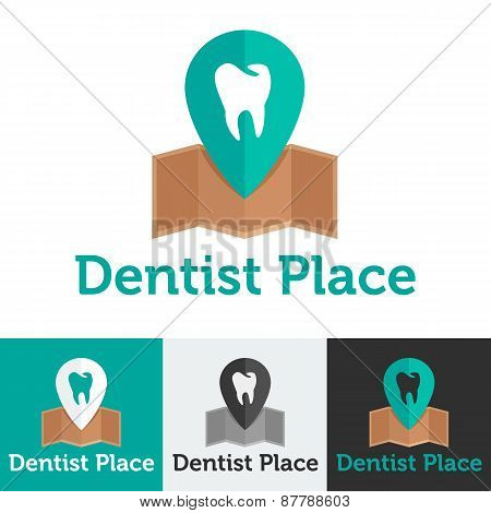 Vector flat dental clinic logo set