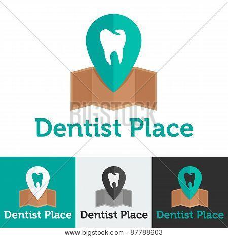 Vector flat dental clinic logo set