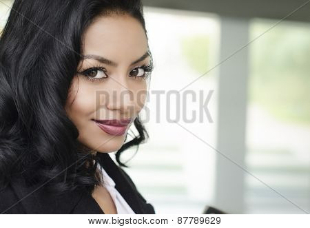 Attractive young business woman student