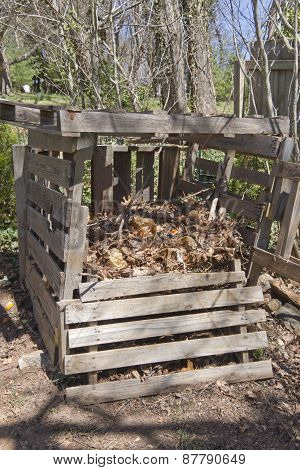 Compost Bin Made Of Recycled Wood