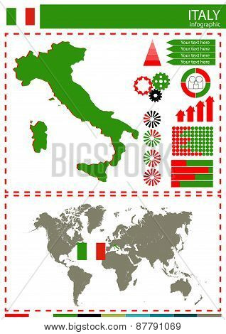 Vector Italy Illustration Country Nation National Culture Concept