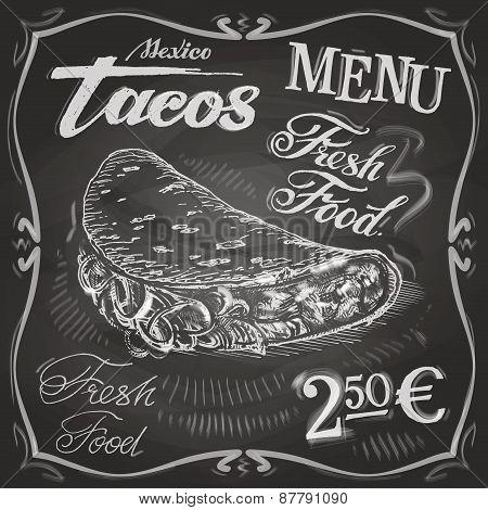 burritos, tacos vector logo design template.  fast food or menu board icon.