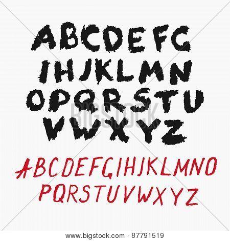 Grunge Alphabet Set