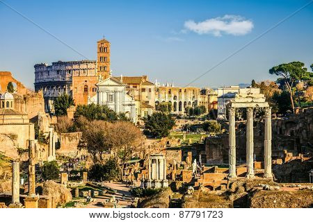 View on forum in Rome, Italy