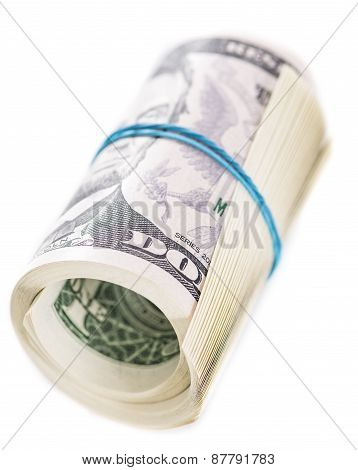 Us Dollars Isolated On White