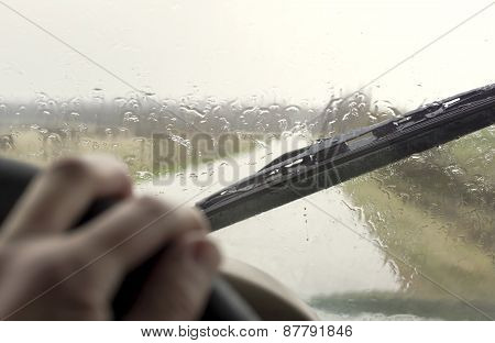 Driving On The Rain