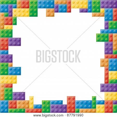Square Colored Block Picture Frame