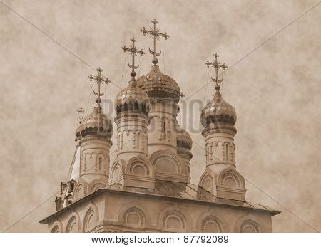 Domes and crosses (sepia toning)
