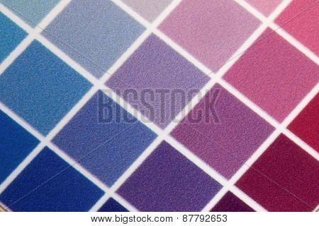 Test Print, Blue, Cyan, Violet