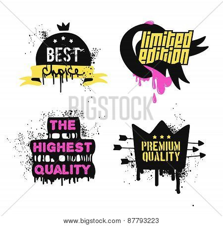 Best choice and premium quality badges and stickers.