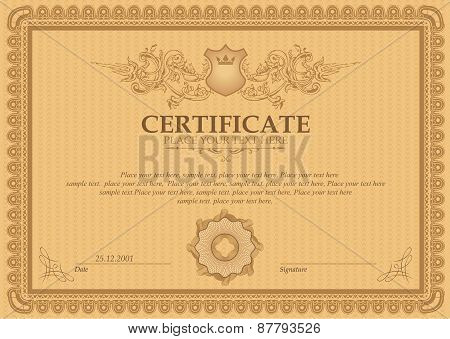 Vector  detailed certificate