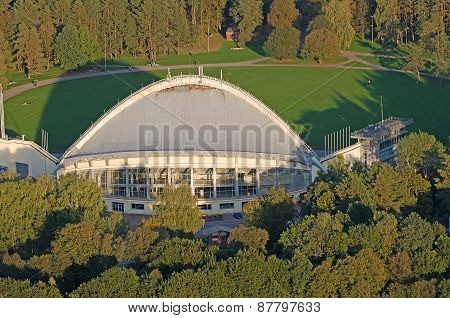 VILNIUS, LITHUANIA - 17 SEPTEMBER, 2014: Amphitheater in Vingis Park (Vilnius, Lithuania)