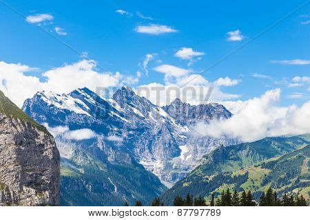 Alps On Bernese Oberland