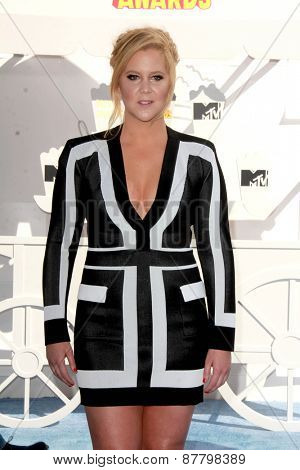 LOS ANGELES - FEB 11:  Amy Schumer at the MTV Movie Awards 2015 at the Nokia Theater on April 11, 2015 in Los Angeles, CA