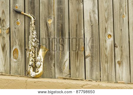 Saxophone Wooden Fence