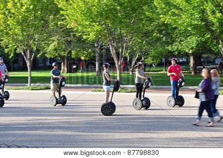 Tourists On Segway