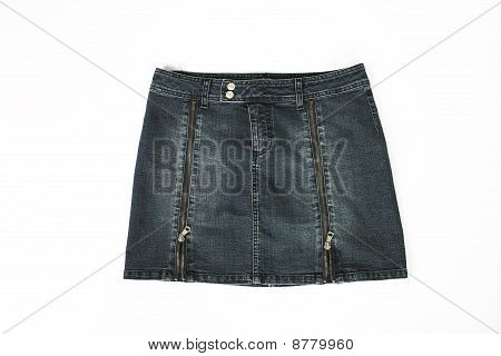 Denim Short Skirt,