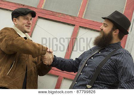 Friends Shake Hands