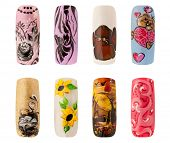 picture of nail paint  - Nail art handmade - JPG