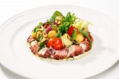 Постер, плакат: Fresh seafood salads and meals