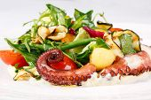 Постер, плакат: Fresh salad with octopus