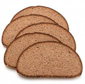 pic of fresh slice bread  - Slice of fresh rye bread isolated on white background cutout - JPG