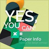 pic of slogan  - Flat design square banner with slogan - JPG