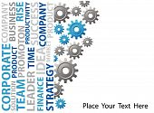 pic of marketing strategy  - business background with a group of gears - JPG