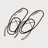 foto of ballet shoes  - Ballet Shoes Doodle - JPG