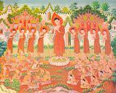 stock photo of buddhist  - Thai art - JPG