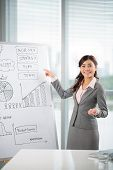 stock photo of conduction  - Manager conducting business presentation in the office - JPG