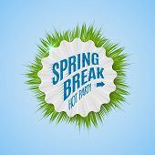 foto of spring break  - Festival spring break realistic badge can be used for flyers and presentations - JPG