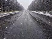 foto of icy road  - Snow - JPG